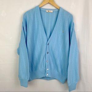 Vintage Arnold Palmer Baby Blue Grandpa Cardigan